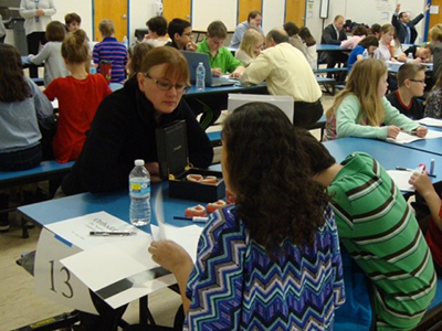 Dr. Lehky at Career Day in Akron, OH.